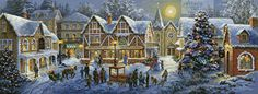 Christmas Village - cross stitch pattern designed by Tereena Clarke. Category: Christmas.