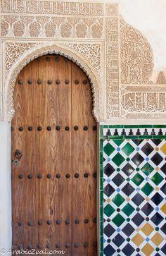 Alhambra Door, Tiles & Calligraphy; Granada Spain