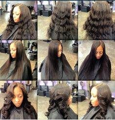 Two bundles of Brazilian hair with minimal leave out. Washed and deep conditioned pressed and curled. Styled by Aaron at in Philadelphia, PA Sew In Hairstyles, Deep Conditioner, Philadelphia Pa, Brazilian Hair, Curls, Minimal, Drama, Hair Styles, Beautiful