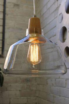 Wood Top Glass Lights. Natural Timber. Scandinavian style - Fat Shack Vintage - Fat Shack Vintage