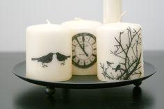 Stamped Halloween Candles - Scrapbook.com