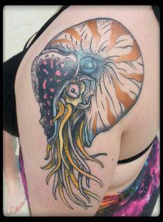 Nautilus Tattoo by Galen Bryce