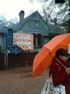 At South by Southwest (SXSW) this weekend, Google set up their Google Village.  The Google Village is a miniature version of the Googleplex.