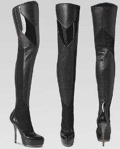 gucci knee high boots / you may not actually be from the future but you could fool me