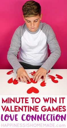 These Valentine games are perfect for all ages - challenging enough for older kids and adults, but still simple enough that younger children can join in the fun! Valentines Games For Couples, Valentine Games, Valentines Day Party, Valentines For Kids, Valentine Ideas, Valentine Box, Preschool Valentine Crafts, Valentines Day Activities, Valentine's Day Party Games