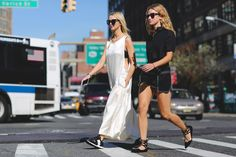 The Most Authentically Inspiring Street Style From New York #refinery29  http://www.refinery29.com/2015/09/93788/ny-fashion-week-spring-2016-street-style-pictures#slide-1  Cool-girl flats....