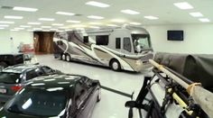 The underground garage can fit up to nine buses.