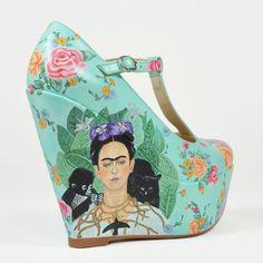 FRIDA Frida Kahlo Inspired Wedge Shoe por LUWfashion en Etsy