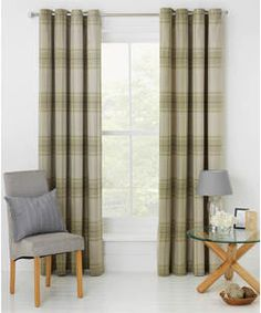 Buy Heart of House Angus Eyelet Curtains 168 x 228cm- Soft Green at Argos.co.uk - Your Online Shop for Curtains.