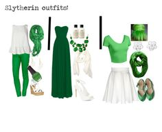 """""""Slytherin harry potter"""" by maddiegirl1212 ❤ liked on Polyvore featuring Ralph Lauren Blue Label, French Connection, Wet Seal, SpaRitual, BCBGeneration, philosophy, LE3NO and Kate Spade"""