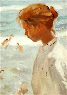 Joaquín Sorolla y Bastida Spanish Painters, Spanish Artists, Claude Monet, Portrait Drawing Tips, Renoir, Valencia, Virtual Art, Muse Art, Palette Knife Painting