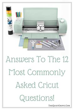 Come Check Out The Answers To The 12 Commonly Asked Cricut Questions & Enter to Win a Cricut Explore Air™ 2 Mint Machine + Ultimate Machine Set! Cricut Air 2, Cricut Help, Cricut Vinyl, Cool Diy Projects, Crafty Projects, Sewing Projects, Cricut Tutorials, Cricut Ideas, Diy Cutting Board
