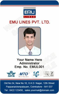 School id card horizontal id card design student id for School id badge template