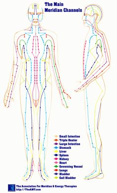 Dear Me, when you start learning about energy healing.. you learn about the chakras and what they control.. and then you come to the Meridians.. you need to know where they are and what direction they flow..
