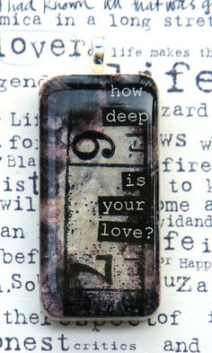 How deep is your love Domino pendant by taylorrain1 on Etsy, $16.00
