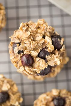 Baked Blueberry Oatmeal Cups for breakfast on the go
