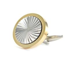 Gold Rimmed Cufflinks with a fabulous silver swirled center. Modern and classic in style which will set off any cuff. These gold rimmed cufflinks are a great all rounder with fabulous glossy gold around a silver rhodium plated swirled center. Gold Pattern, Free Black, Plating, Cufflinks, Australia, Club, Classic, Modern, Silver