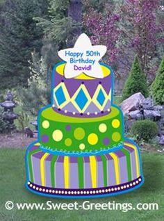 Birthday Cake Yard Sign