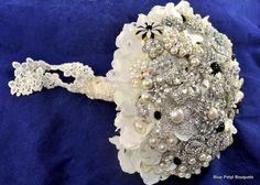 """""""Angel's Breath"""" Brooch Bouquet by Blue Petyl #BroochBouquet #WeddingBouquet #wedding #bridal #bouquet"""
