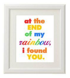 Rainbow Baby Wall Hanging by ArtbyAllisonDeGeorge on Etsy, $35.00
