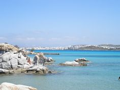 Naoussa from Kolymbithres beach, Paros Island, Greece