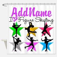 ICE SKATING STAR Shower Curtain Give the perfect Ice Skater gift with our fantastic Figure Skating Tees and Gifts. http://www.cafepress.com/sportsstar/10189550 #Figureskater #FigureSkating #Iloveskating #Borntoskate