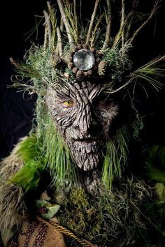 The crone was as ancient as the forest.  Over the years, she became one with the forest itself.