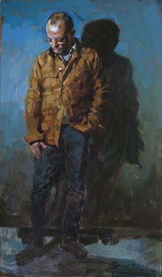 Laurent Dauptain, autoportrait 195 X 114 cm 2015