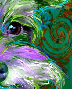 miniature schnauzer art and pictures This is what schnauzer personalities look like under infrared light! LOL