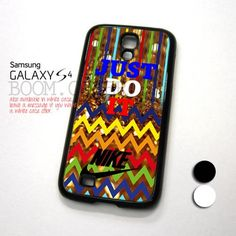 Chevron Colorful JUST DO IT NIKE design for Samsung Galaxy S4 Case