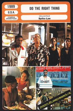 DO THE RIGHT THING 1989 Spike Lee Film MOVIE PHOTO CARD