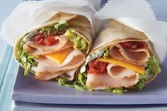 Mesquite smoked turkey breast and salsa give these tasty wraps their Tex-Mex roots. The cilantro-spiked dressing probably has somethin. Kraft Foods, Kraft Recipes, Turkey Wrap Recipes, Turkey Wraps, Tex Mex, Cilantro, Deli Fresh, Smoked Turkey, Frijoles