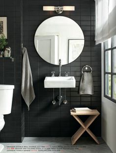 charcoal walls, retro lighting, masculine yet soft w the unexpected shapes