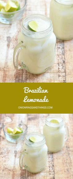 Creamy, tangy and delicious, this Brazilian Lemonade is the perfect way to refresh and cool down this summertime.