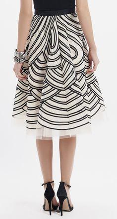 Oscar de la Renta Cream And Black Skirt