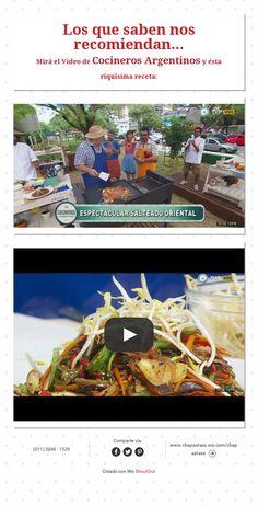 Los que saben nos recomiendan... Miráel Video de Cocineros Argentinos y ésta riquísima receta: Videos, Fictional Characters, Chefs, Innovative Products, Did You Know, Argentina, Recipes, Fantasy Characters, Video Clip