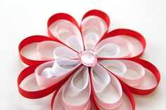 Flower Hair Clip  Made from Ribbon by BabyGeneration on Etsy, $4.00