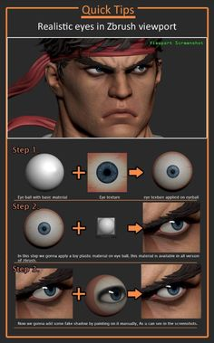Drawing Tips Realistic eye texture in zbrush tutorial - Ryu, by sumit malhotra, ArtStation - Sculpting Tutorials, Eye Drawing Tutorials, Digital Painting Tutorials, Drawing Tips, Art Tutorials, Digital Paintings, Zbrush Character, 3d Model Character, Character Modeling