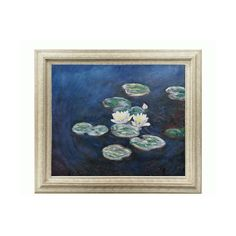 Waterlilies Evening By Claude Monet: 24 X 20 Oil Painting Reproduction... (€145) ❤ liked on Polyvore featuring home, home decor, wall art, fillers, art, pictures, backgrounds, tuscan home decor, oil painting and tuscan oil paintings