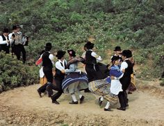 portuguese folk dancers.