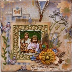 "Scrapbook layout made by Maja Design team member Gabrielle Pollacco using ""Walk In the Forest"" collection papers"