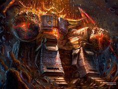 Unicron Destroyer of Worlds, Clinton Felker Original Transformers, Transformers Prime, Transformers Decepticons, Transformers Masterpiece, Transformers Generation 1, Destroyer Of Worlds, Cultura Pop, Cool Artwork, Amazing Art