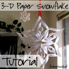 Finely Ground: DIY: 3-D Paper Snowflakes