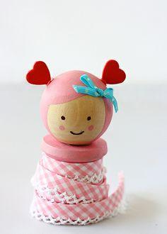 Valentine Spool Doll | Flickr - Photo Sharing!