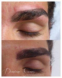 maquiagem definitiva fio a fio/  preenchimento de falha sobrancelha masculina.