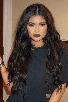 Kylie Jenner Long Wavy Lace Front Synthetic Hair Wig 24 Inches - All For Colors Hair Kylie Jenner Lipstick, Kylie Jenner Black Hair, Remy Human Hair, Human Hair Wigs, Bobbi Boss Wigs, Mac Brave, Mac Velvet Teddy, Curly Hair Styles, Natural Hair Styles