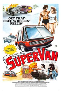 Poster for the 1977 SuperVan movie. See CarMovieEnthusiast.com for reviews of hundreds of car movies.