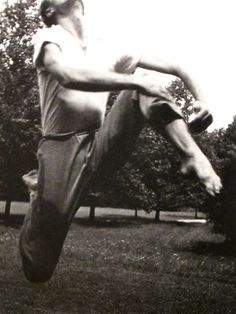 Merce Cunningham dancing, photographed by Hazel Larsen Archer