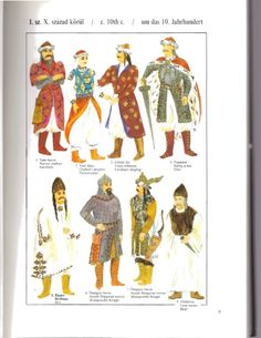 10th Century Magyar from Hungarian Costume by Elizabeth Ek. Questionable documentation but good overview.