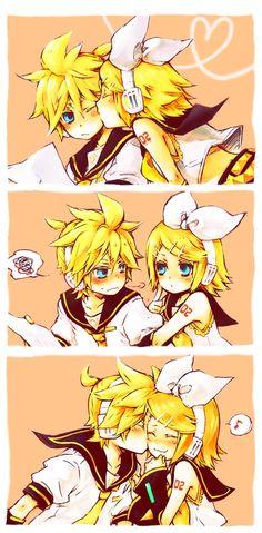 Aww. Rin and Len